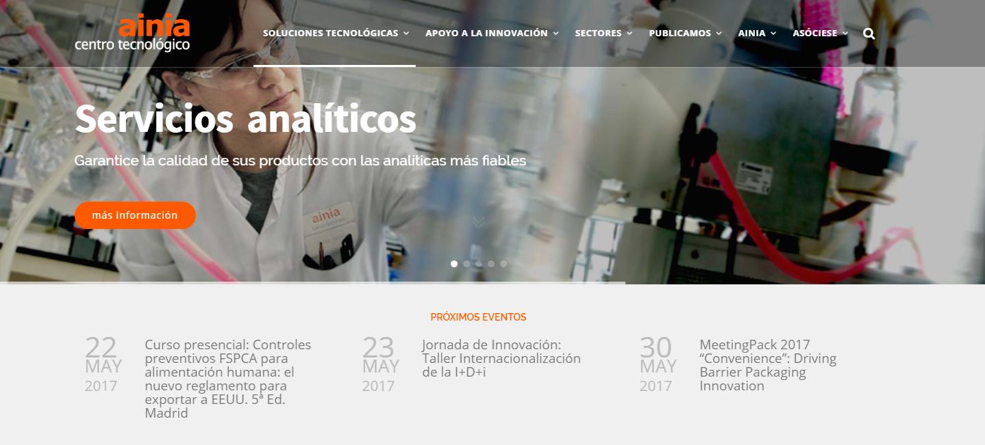 Ainia: Industria 4.0 de los alimentos