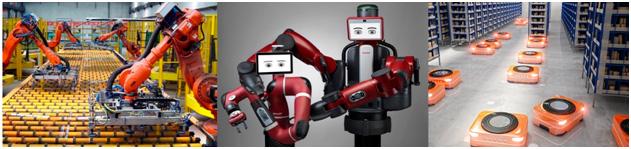 Fotografías de Brazos Robóticos Articulados, Cobots y AGVs