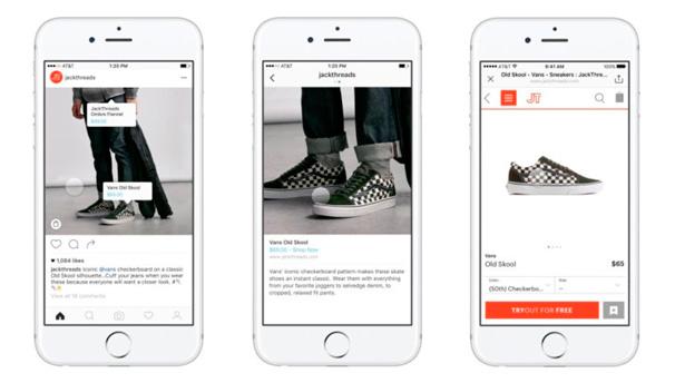 Ejemplo integración de Instagram Shopping
